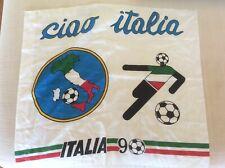BANDIERA NAZIONALE ITALIANA CALCIO F.I.G.C. MONDIALI 1990 MONDIALE MASCOTTE CIAO
