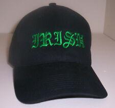IRISH CAP -  IRISH TEXT black baseball hat