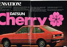 PUBLICITE  1979   DATSUN CHERRY   ( 2 pages)