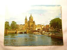 Vtg. 1980's Amsterdam Holland Postcard Rare STAMPS
