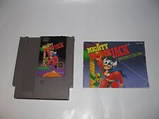 MIGHTY BOMB JACK BY TECMO FOR NINTENDO NES CARTRIDGE & MANUAL TESTED WORN LABEL