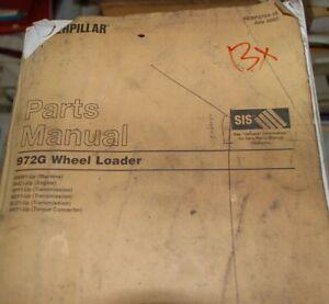 CAT Caterpillar 972G Wheel Loader Parts Manual Book 4WW catalog spare list OEM