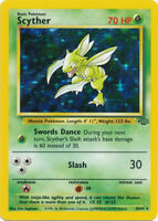 Scyther Holo Pokemon Card Original Jungle Unlimited 10/64