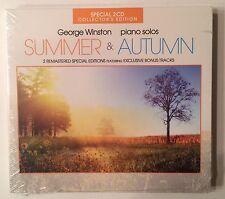 George Winston 'Summer & Autumn' Exclusive Bonus Tracks Collector 2CD (2012) NEW