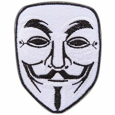 V for Vendetta Anonymous Guy Fawkes Movie Iron-On Patches Shirt Jacket #0154