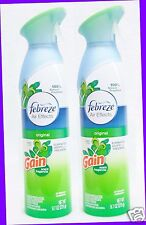 2 Febreze Air Effects ORIGINAL GAIN SCENT Air Freshener Room Spray Mist Bottle