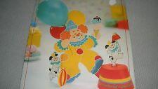Vintage 1983 Hallmark Chuckles and Spot 3-D Paper Centerpiece-Clown/Dog-Birthday