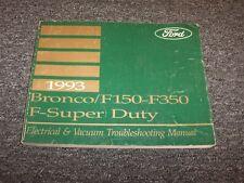 1993 Ford F150 F250 F350 F-Series Electrical Wiring Vacuum Diagram Manual
