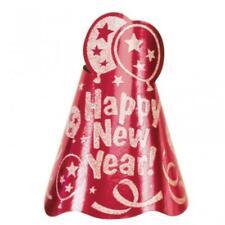 Bonne Année Rouge Feuille Chapeaux X 12
