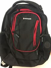 Wenger Black Three Pocket Backpack with Organizer NWOT