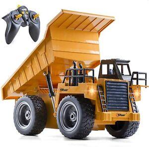Top Race RC Remote Control Construction Dump Truck Toy Alloy Metal + Plastic 4WD
