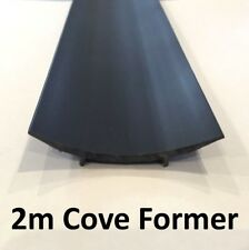 Vinyl Floor Cove Fomer - Black 2m lengths - Wet Room Safety Floor