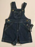 Faded Glory Baby Boy's Denim Bib Shorts 3-6 Months NEW Shortall