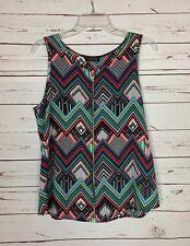 Papermoon Stitch Fix Exclusive Women's M Medium Black Sleeveless Top Tank Blouse