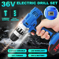 Cordless Brushless Drill Driver LED Worklight Waterproof Tool & Li-Ion Battery
