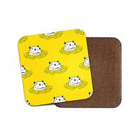 Funny Yellow Hippo Coaster - Hippopotamus Kids Mum Auntie Cool Fun Gift #14226