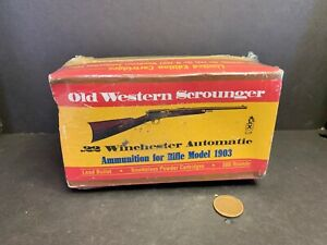 Vintage Old Western Scrounger Cartridge Box, Winchester 22 Ammo, Rifle Mod. 1903