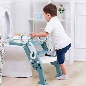 Kinder Töpfchentrainer Toilettensitz + Treppe Trainingstoilette Leiter WC Sitz
