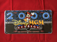 Disney License Plate - MGM 2000 On With The Show New Sealed