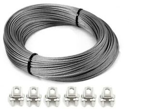 Bore Pump Wire 3,365.1kg Grips 8.0mm 7x19 G316 Stainless Steel
