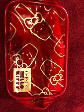 Opi Hello Kitty Clear  Red Makeup Bag