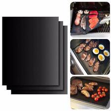 2 pcs BBQ Grill Mat Non-Stick Outdoor Barbecue Pad Teflon Bake Grilling Mats