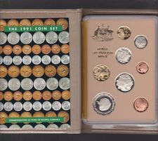1991 Australia Proof Coin Set in Folder with outer Box & Certificate **