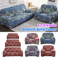 1/2/3/4 Seats Elastic Stretch Sofa Armchair Cover Slipcovers Bohemian For Home
