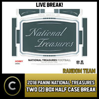 2018 PANINI NATIONAL TREASURES FOOTBALL 2 BOX 1/2 CASE BREAK #F125 RANDOM TEAMS
