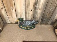 Vintage- Large Cast Iron -Duck -Door Stop -Wright Studios -