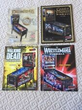 LOT OF 4 STERN  PINBALL MACHINE BROCHURE FLYERS LORD OF THE RINGS,GAMES THRONE