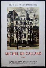 Michel de GALLARD 1962 Affiche Paris lithographie orig. Mourlot David et Garnier