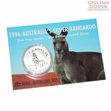 1996 Royal Australian Mint Uncirculated Specimen $1 Silver Frosted Coin - 1 oz
