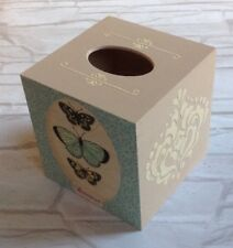 Butterfly  Tissue Square Box Cover Holder wooden handmade decoupaged