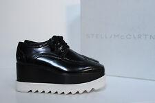 New sz 6 / 36.5 Stella Mccartney Scarpa Black Platform Wedge Heel Oxford Shoes