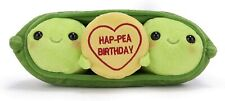 """BRAND NEW 9"""" OFFICIAL SWIZZELS LOVE HEARTS HAP-PEA HAPPY BIRTHDAY SOFT PLUSH TOY"""