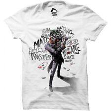 Batman Men's Joker Insane T-shirt White Medium