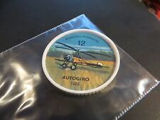 1961 JELL-O HOSTESS AIRPLANE SERIES COINS 1923 AUTOGIRO   HIGH GRADE #12