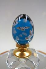 FENTON EGG Jamestown Blue 14K GOLD Seagulls #d 1062 5140D4 MIB freeUSAship