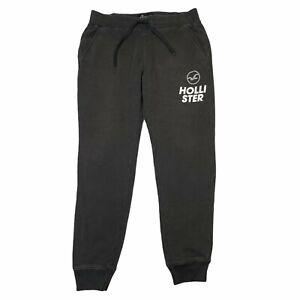 Hollister Activewear Logo Graphic Jogger Sweatpants Black Mens M Medium
