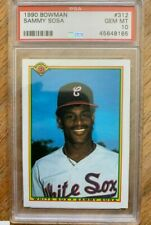 1990 Bowman Sammy Sosa Chicago White Sox #312 ROOKIE PSA 10 GEM MINT