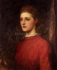 WATTS GEORGE FREDERICK PORTRAIT LADY ARTIST PAINTING OIL CANVAS REPRO ART DECO