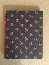 Vera Bradley Double Picture Frame In Emily Blue Floral Plaid