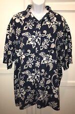 BIG DOGS Sz Mens Sz 3X Hawaiian Aloha 100% Cotton Short Sleeve Shirt