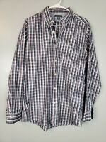 Eddie Bauer Mens Button Down Shirt Size Medium M Plaid Classic Wrinkle Resistant