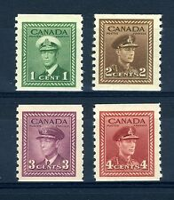 Canada Scott 278 to 281 -NH- Complete Set Perf 9 ½ War Issue Coils (.066)