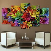 Colorful Flower Abstract Art 5 Pieces Canvas Art Print Picture Wall Decor