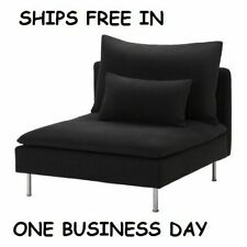 Ikea Soderhamn One 1 Seat Section Cover Slipcover Replosa Black 002.351.93 NEW