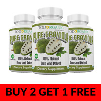 Todorganic Graviola (Annona Muricata) Capsules 800mg Helps Promotes Cell Growth