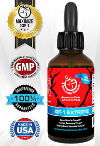 Deer Antler Velvet Spray EXTREME IGF-1 | 400mg At 43X | One Bottle